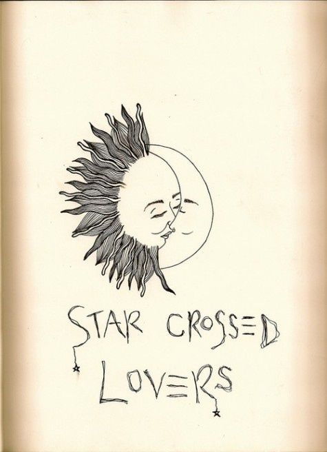 nice simple drawing of the sun and moon as star crossed lovers description from