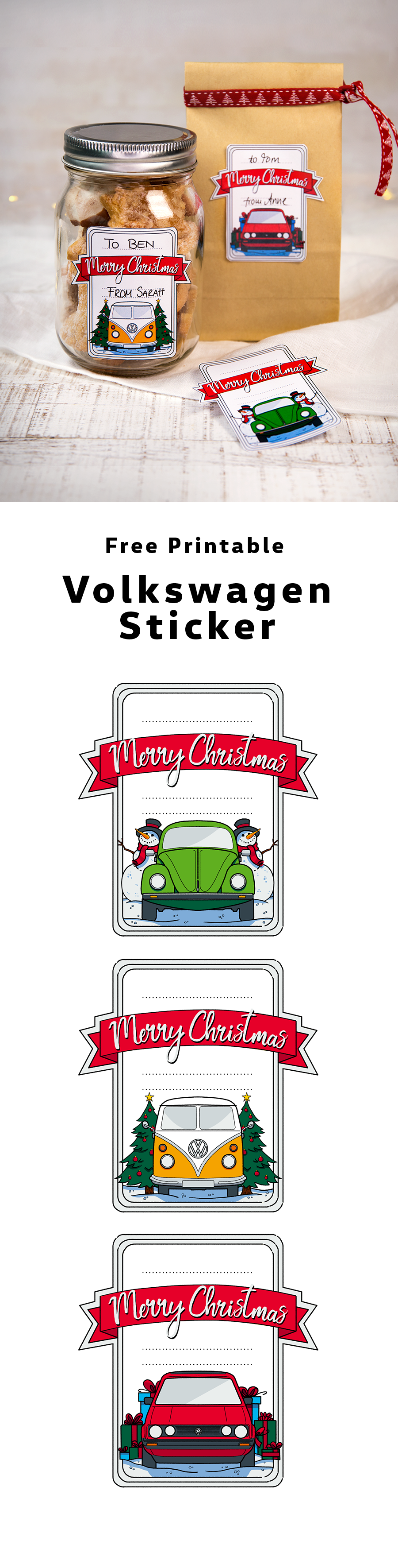 Personalize your Christmas ts with a Volkswagen twist These free