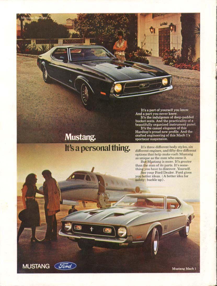 1971 ford mustang us classic car brochures pics ads. Black Bedroom Furniture Sets. Home Design Ideas