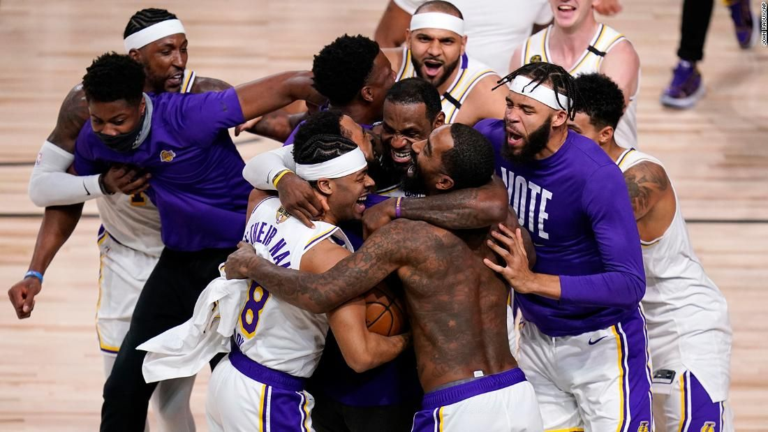 Lakers Win Record Tying 17th Nba Title Giving Lebron James His 4th Championship In 2020 Lakers Win Los Angeles Lakers Nba Championships