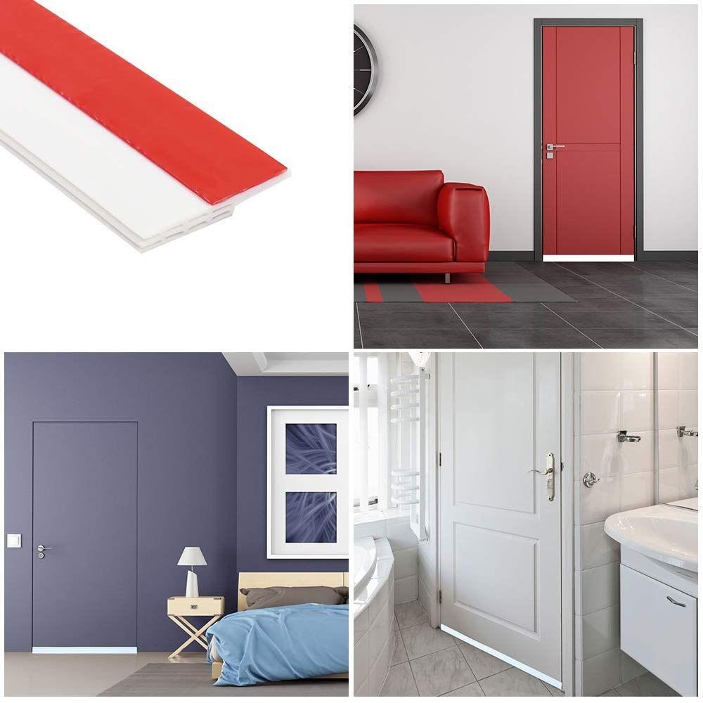 Door Stopper,WERTIOO Door Stops Premium Quality Zinc /& Rubber Non-Rust Heavy Duty Wedge That Hugs Doors Tightly and Doesn/'t Budge+2 pcs Corner Guards