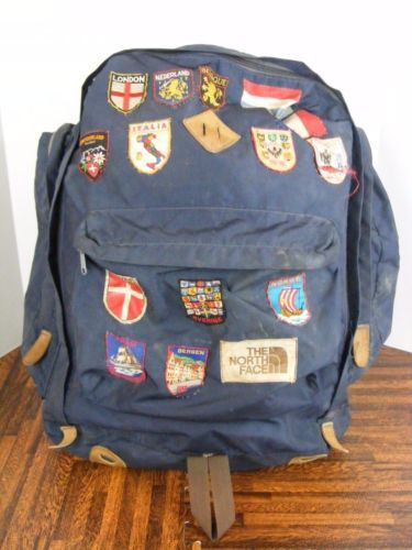 0b535ce5041 Vintage-North-Face-Backpack-70s-Brown-Label-Hiking-Camping-backpack ...