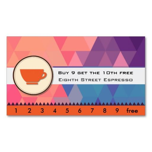 Espresso coffee punch card business card template business cards espresso coffee punch card business card template wajeb Images