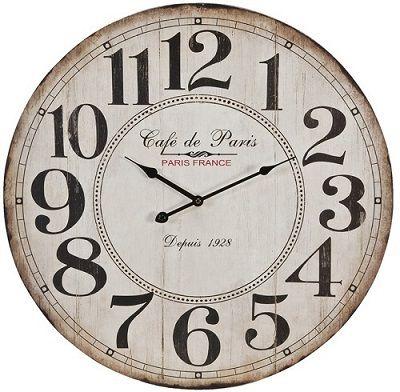 Verwonderend Landelijke houten wandklok Cafe de Paris, Depuis 1928, de klok is KD-69