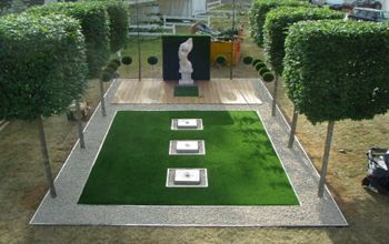 Maintenance Free Garden Ideas gedsc digital camera Artificialgrass Grass Garden Patio Path Paving Inspiration