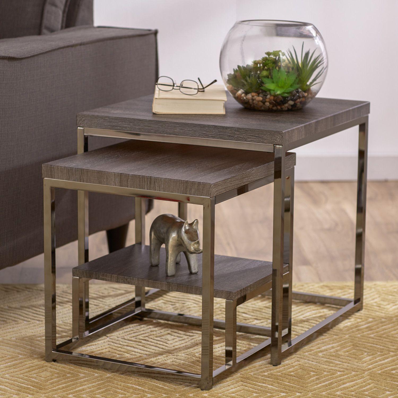 Unique Narrow Nesting Side Tables