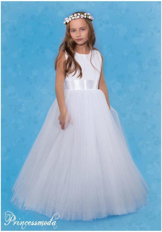 Maria - Traumhaftes Kommunionkleid in Weiß! - Princessmoda ...