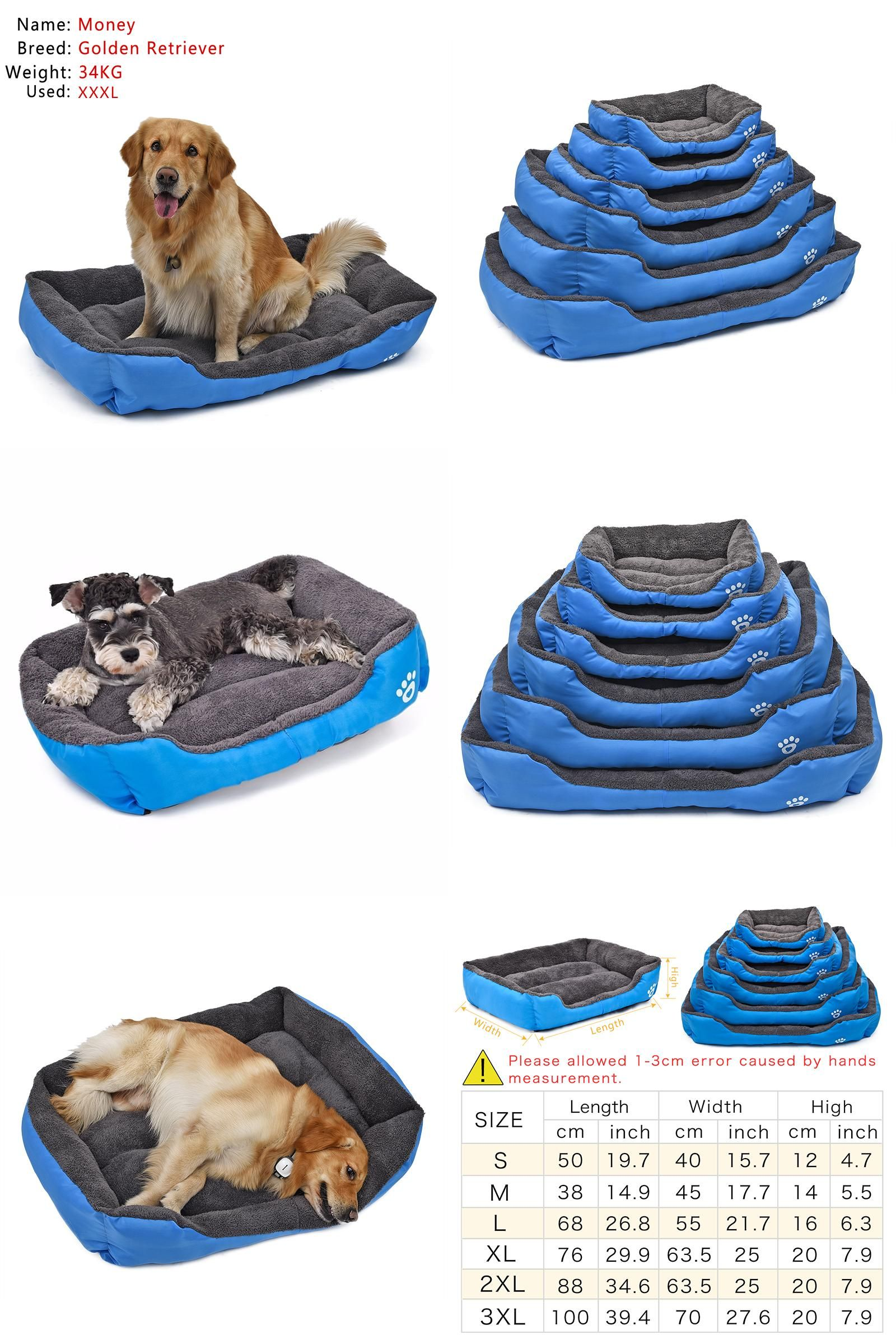 Visit to Buy] Big Size Pet Dog Bed Soft Material Pet Nest Dog Fall