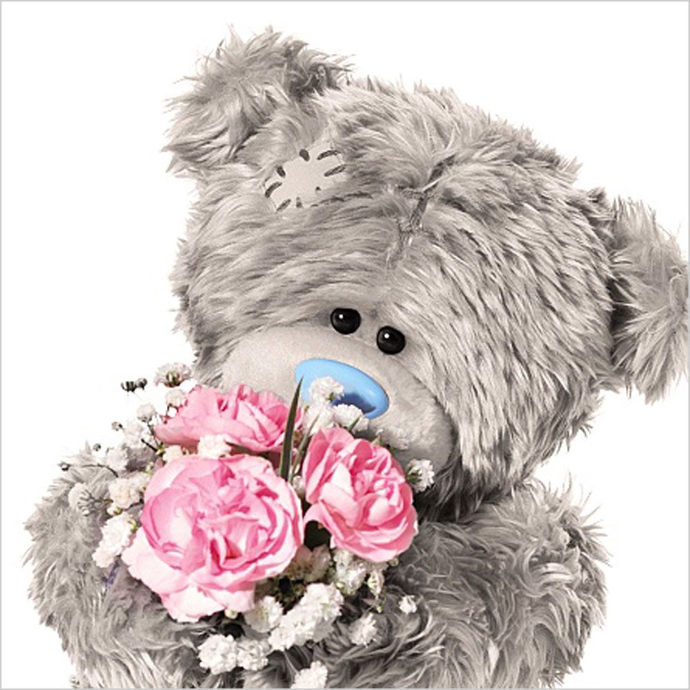 3d Holographic With Flowers Me To You Bear Birthday Card A 2 99