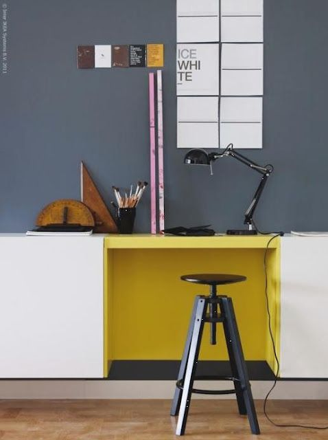 Yellow Home Office Ideas