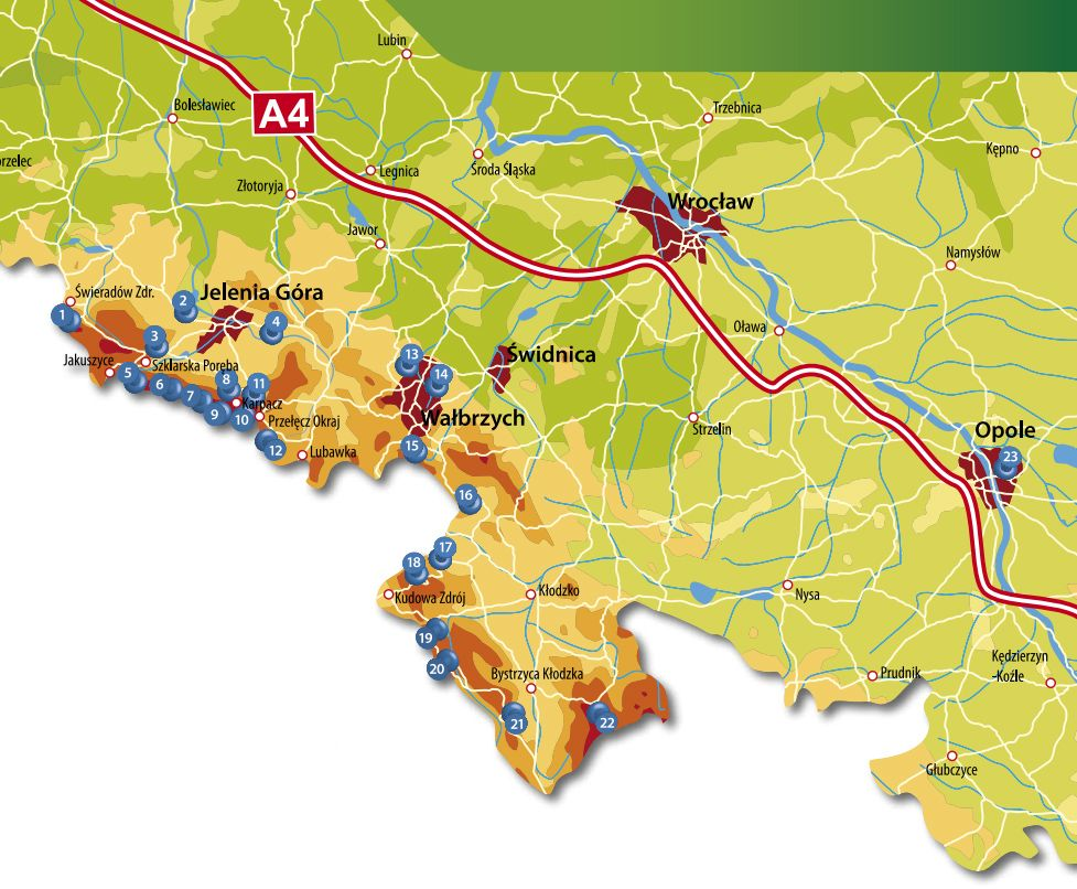Sudety Mapa Schronisk I Hoteli Kids Rugs Decor Kids