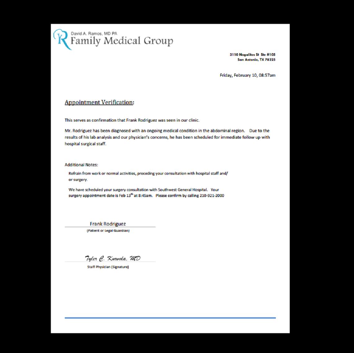 doctor u0026 39 s note  work excuse  template  medical  emergency