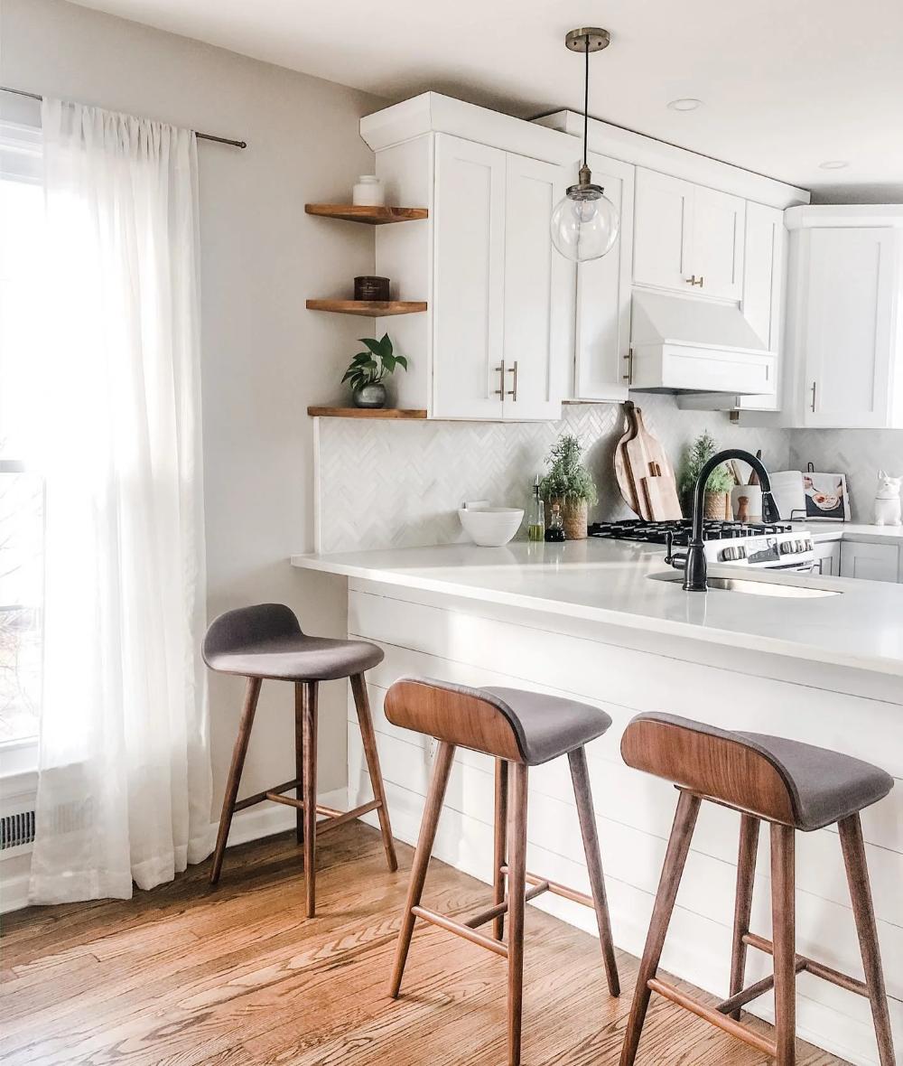 Sede Thunder Gray Walnut Counter Stool In 2020 Modern Kitchen