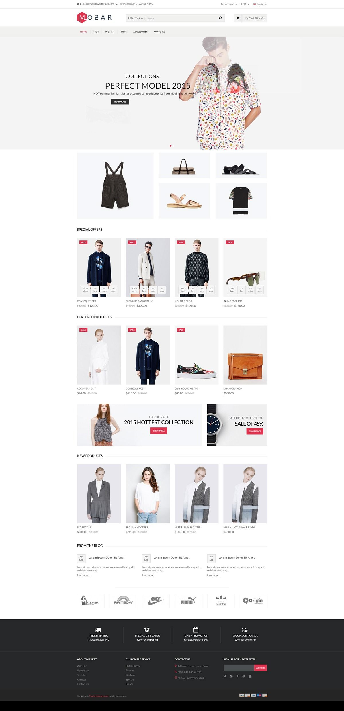 Mozar Responsive OpenCart Clothing Theme on Behance