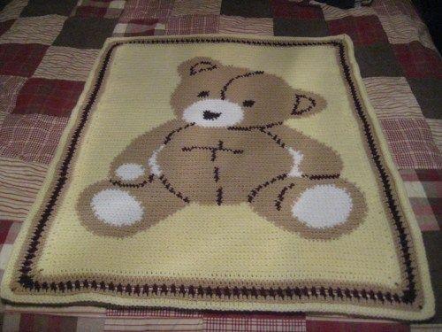 Teddy bear baby afghan | Baby blanket crochet, Baby afghan crochet ... | 375x500