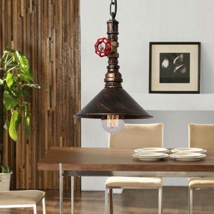 wohnzimmer lampe rustikale industrielle hängelampe Beleuchtung - moderne wohnzimmer leuchten