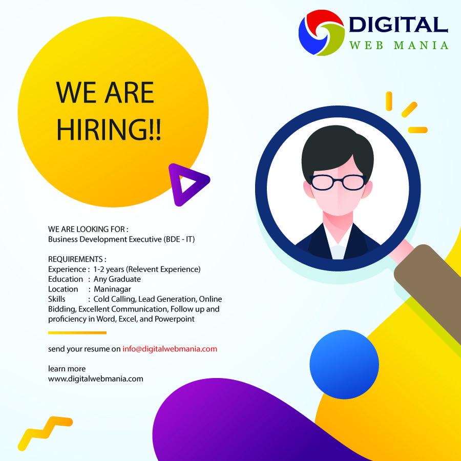 We Are Looking For Business Development Executive Must Be From It Field Please Send Resume On Info Digi Website Development Digital Web Business Development