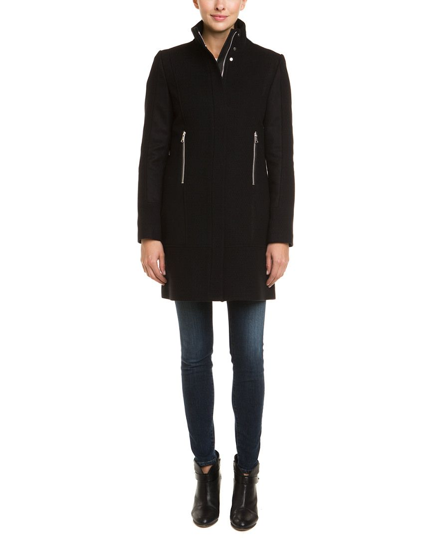 Andrew Marc X Richard Chai Michelle Black Wool Blend Coat Is On Rue Shop It Now Outerwear Jackets Wool Blend Coat Outerwear [ 1080 x 864 Pixel ]
