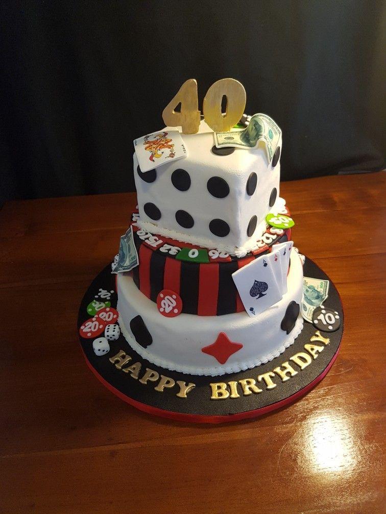 Casino Birthday Cake Verjaardagstaart Pinterest