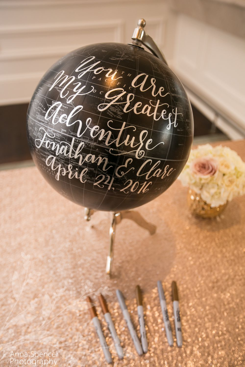 Guest Signature Book Globe St Regis Atlanta Weddings