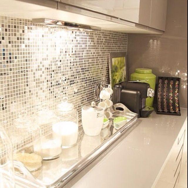 mosaico cocina plateado - Buscar con Google | cabañas | Pinterest ...