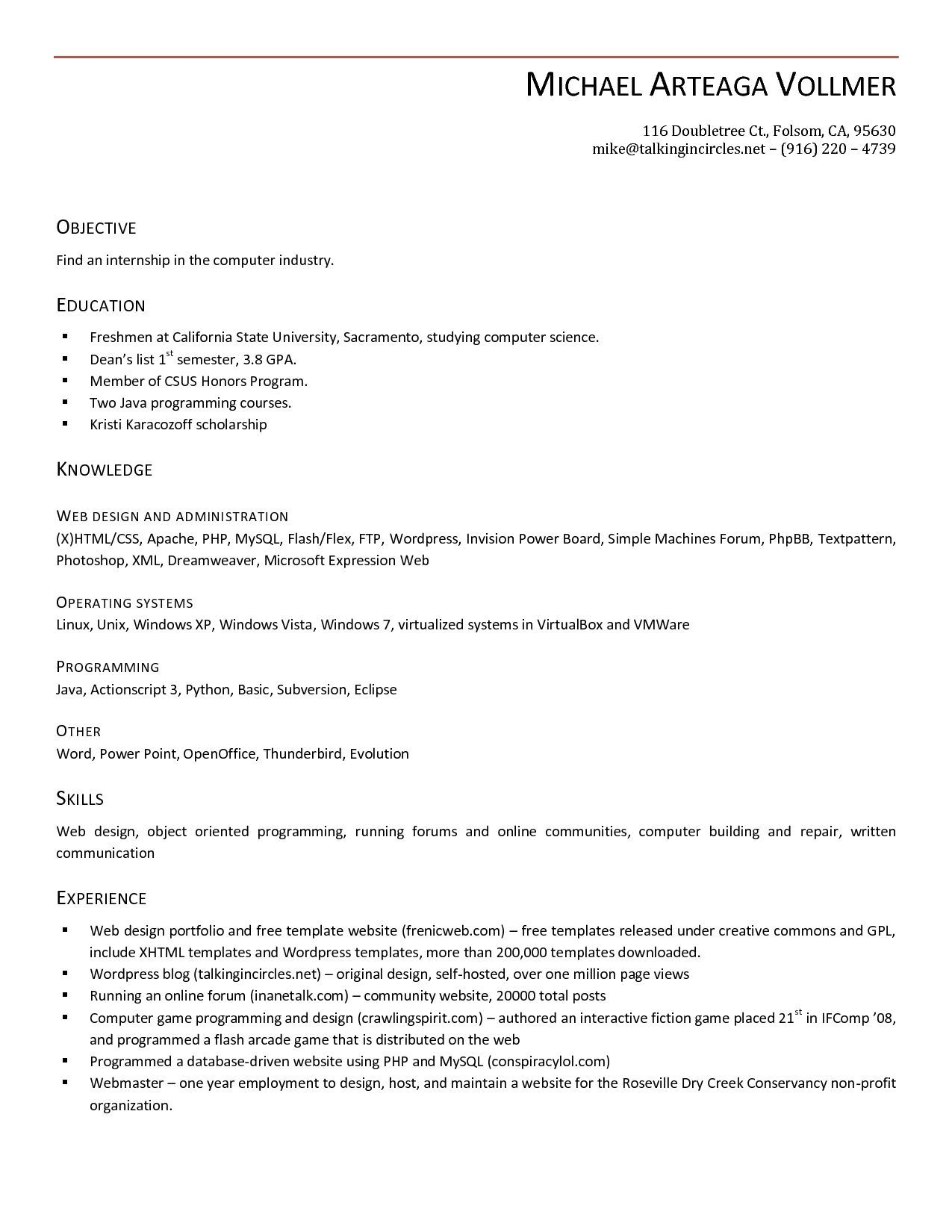 Windows 7 Resume templates, Resume, Job resume