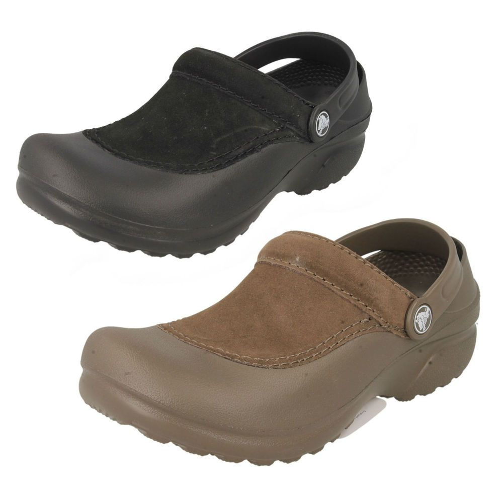 LADIES CROCS CLOGS MULES/SANDALS IN BLACK OR CHOCOLATE - STYLE - TROIKA