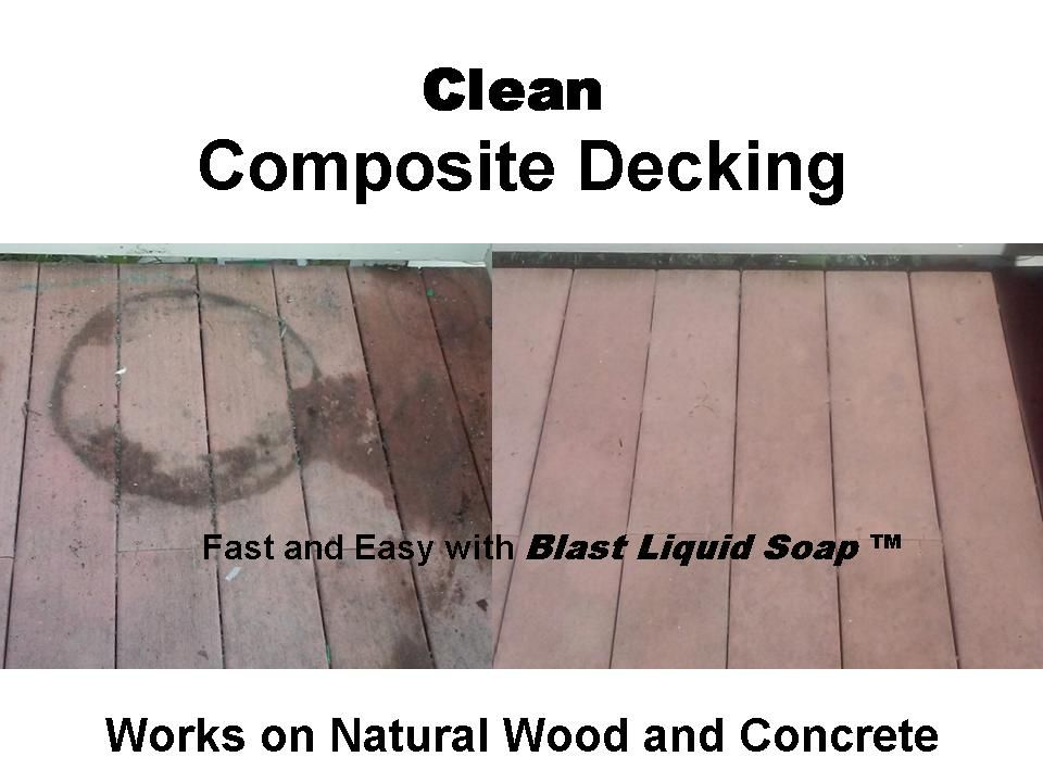 *Clean CompositeConcrete Decking* Your Decking take a