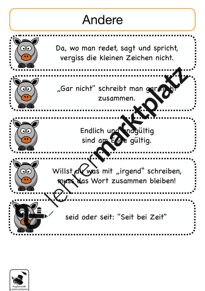 Richtig schreiben mit Eselsbrücken – Deutsch | Rechtschreibung ...