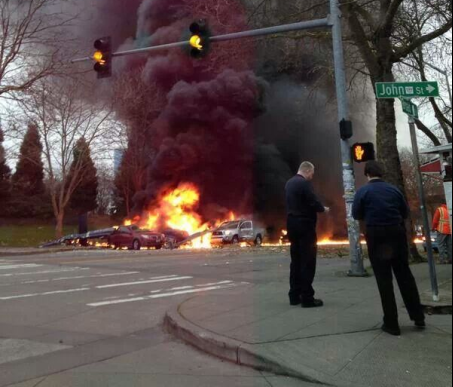 Helicopter crash in Seattle