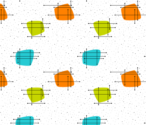 Orbit (Lime/Aqua/Orange) fabric by gammagammahey on Spoonflower - custom fabric