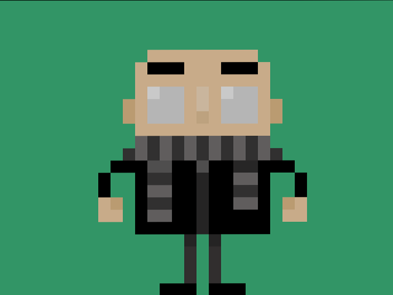 Famous Characters In Pixel Art Gru From Despicable Me