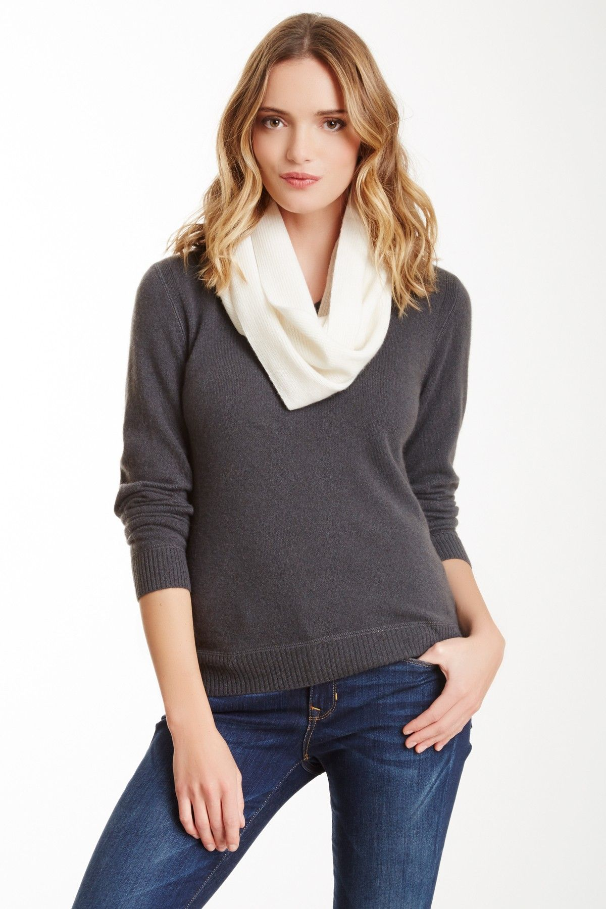 Raffi Cashmere Infinity Scarf on HauteLook Cute outfits