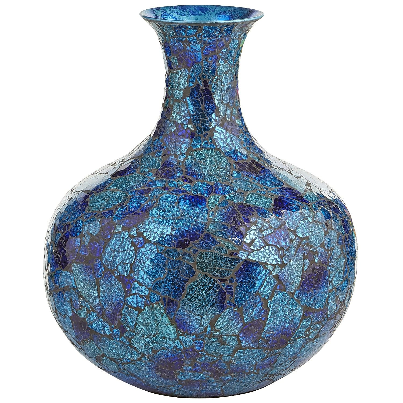 Short mosaic vase blue decor vases pinterest mosaic vase short mosaic vase blue reviewsmspy