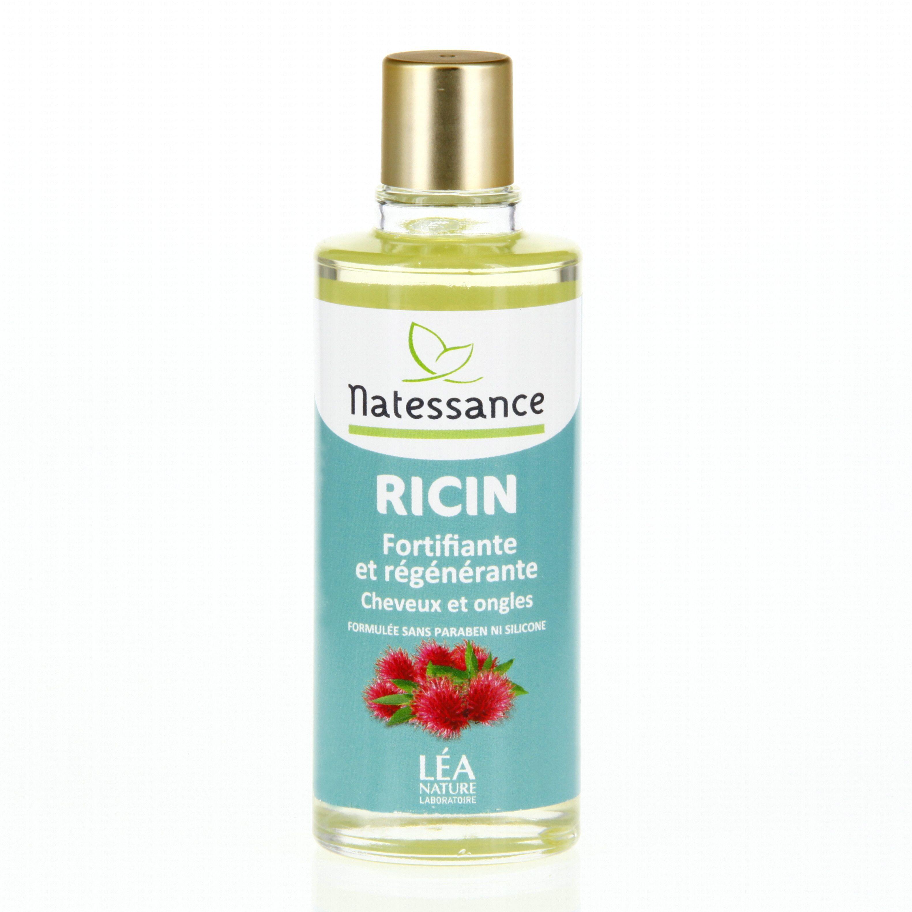 natessance huile de ricin fortifiante et r g n rante cheveux et ongles flacon 100ml 22465 201