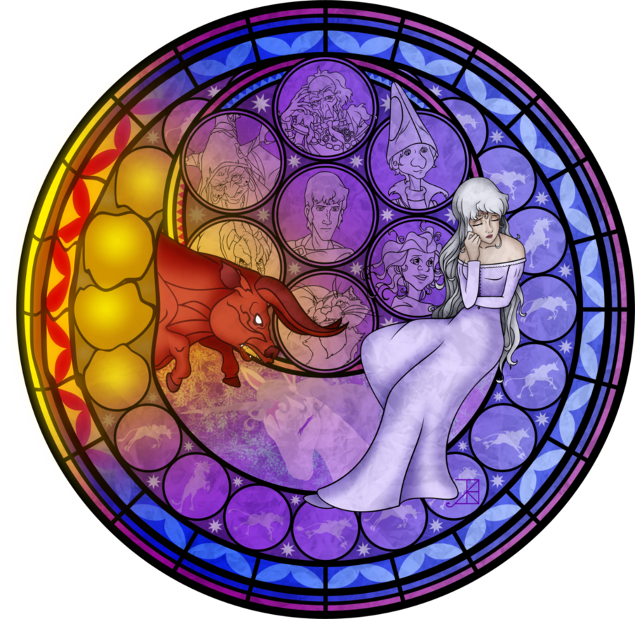 Stained glass amalthea by akiliamethyst on deviantart the last