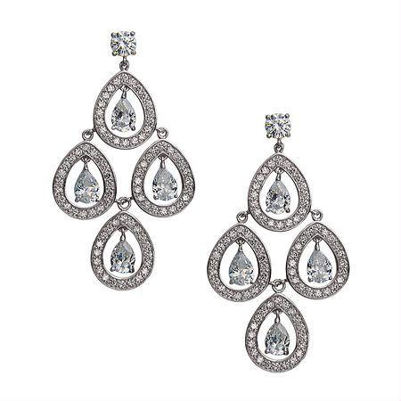 Tomeka chandelier earring | Chandelier earrings and Nina shoes