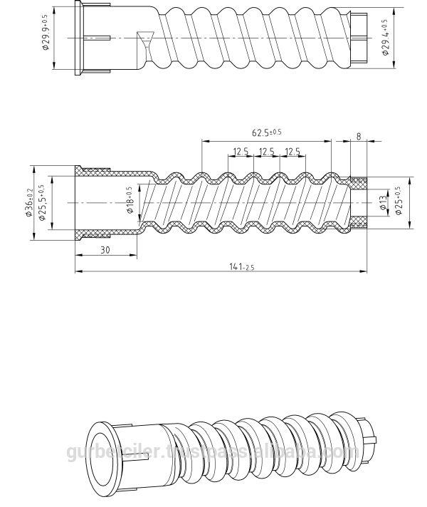PA66 HDPE Rail Plastic sleeve Vossloh fastener's plastic dowel