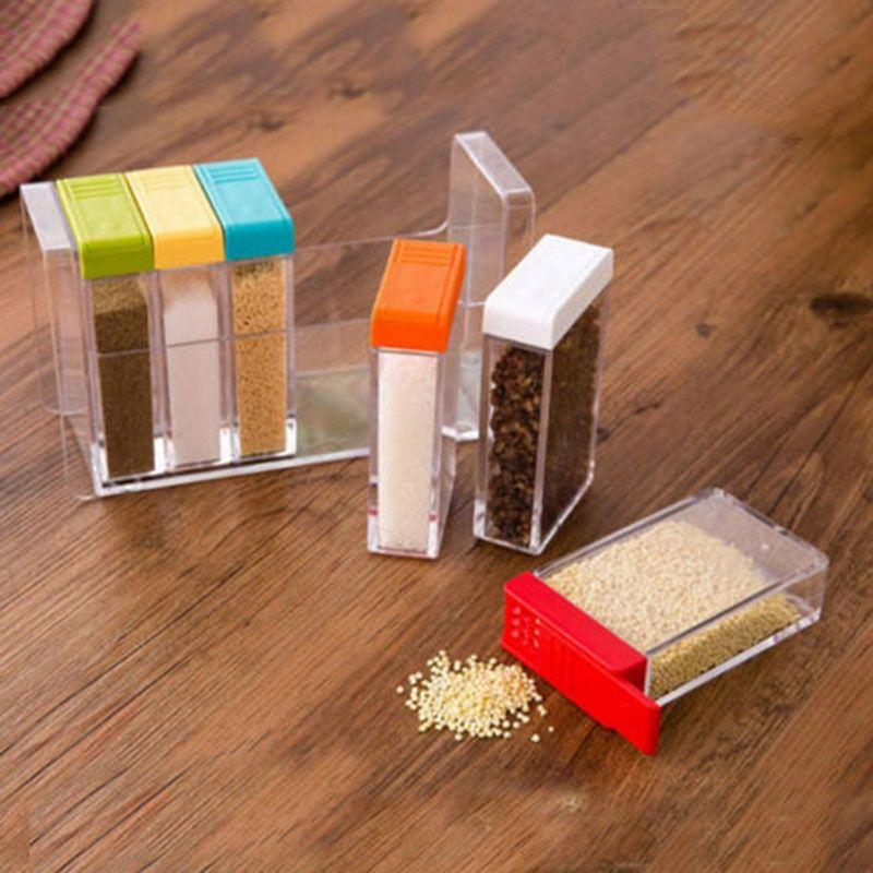 Kitchen supplies multi - purpose transparent plastic dressing box ...