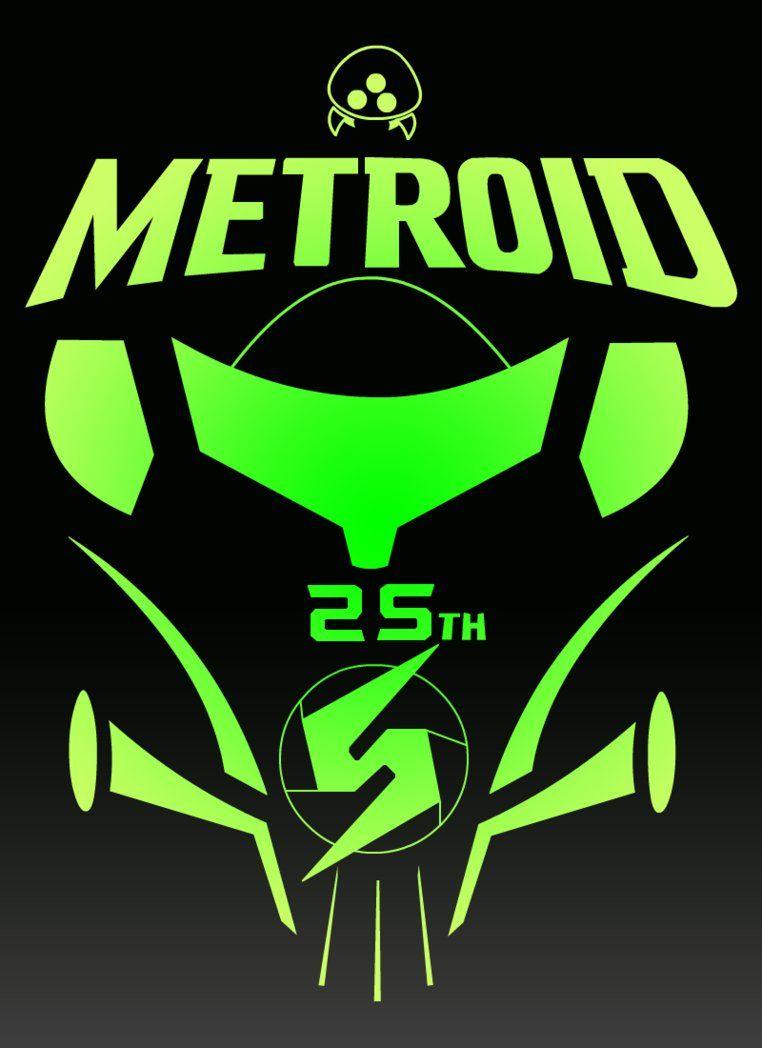 Metroid 25th Anniversary Logo By Fireball Stars Deviantart Com On Deviantart Metroid Anniversary Logo Samus