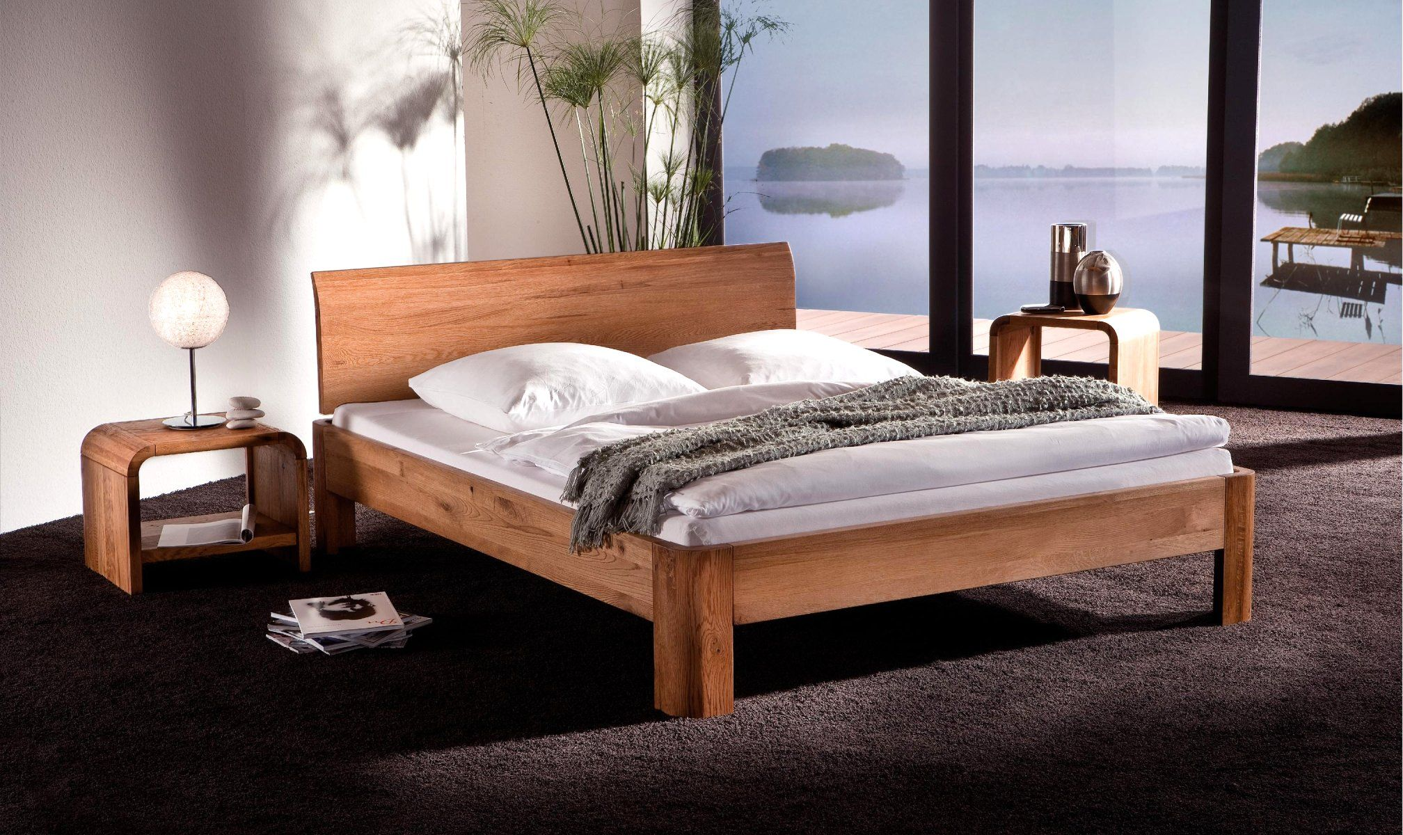 hasena oak line met hoofdbord lisio en bedpoten ronda