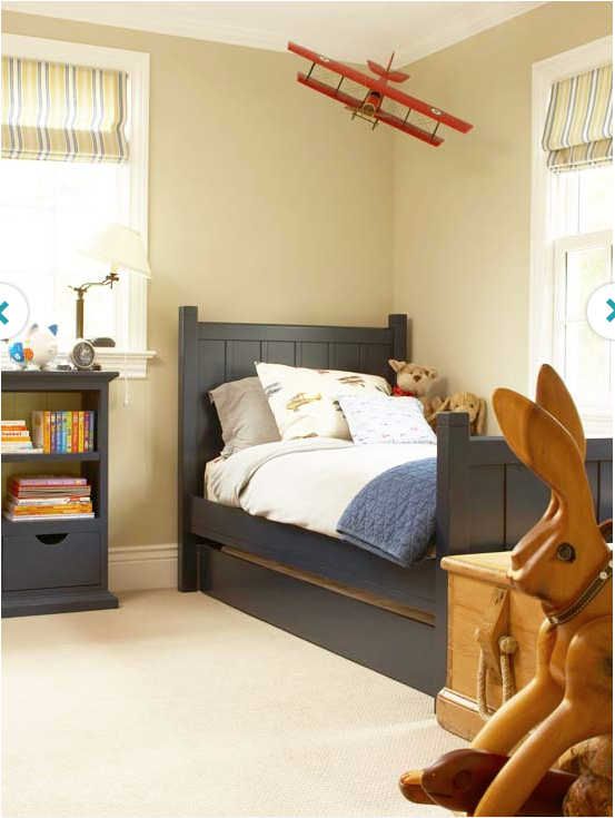 Simple Elegant Classic navy blue with beige and gold Great color scheme for boys bedroom Love the plane Elegant - Luxury toddler room ideas Simple Elegant