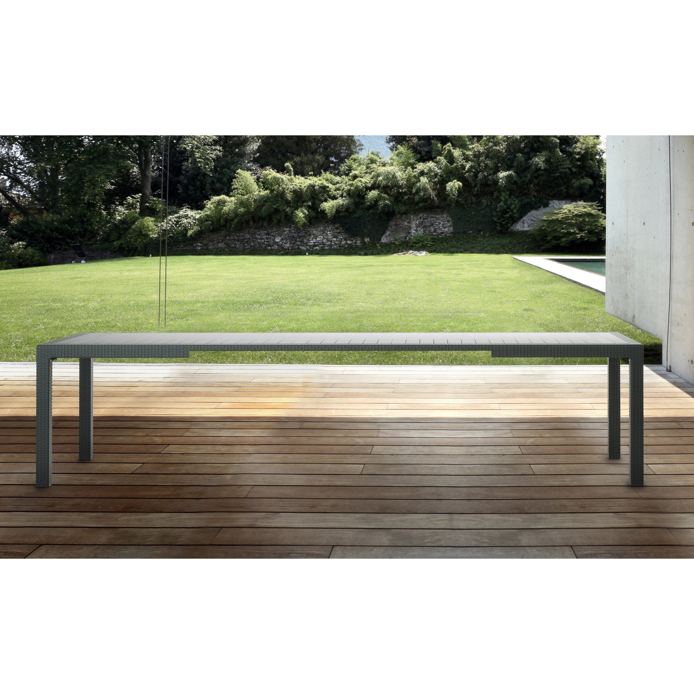 Keter Symphony Extendable Table Patio Dining Tables at Hayneedle