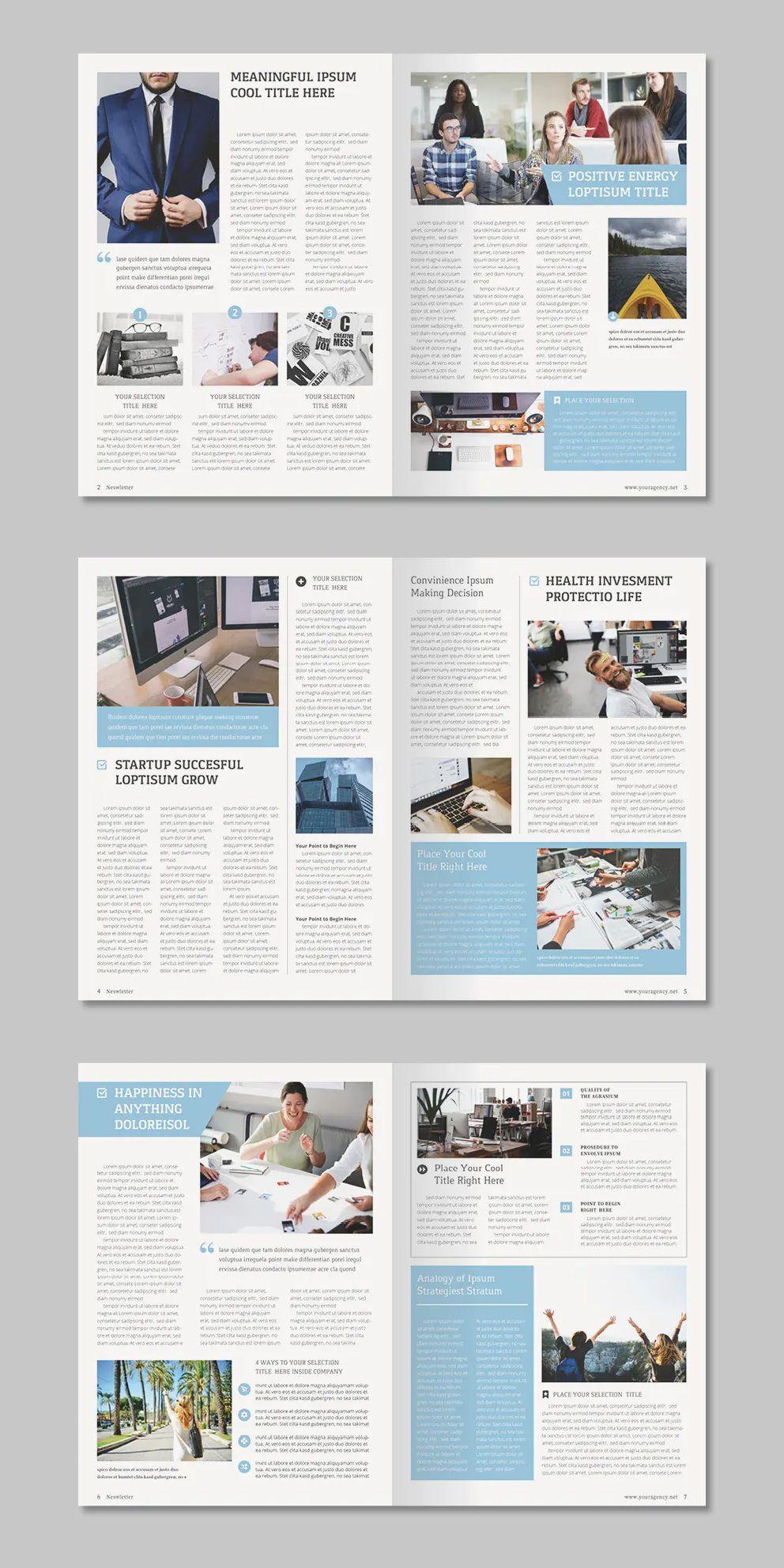 Multipurpose Newsletter Template Indesign Indd 14 Pages Newsletter Design Newsletter Templates Newsletter Design Templates