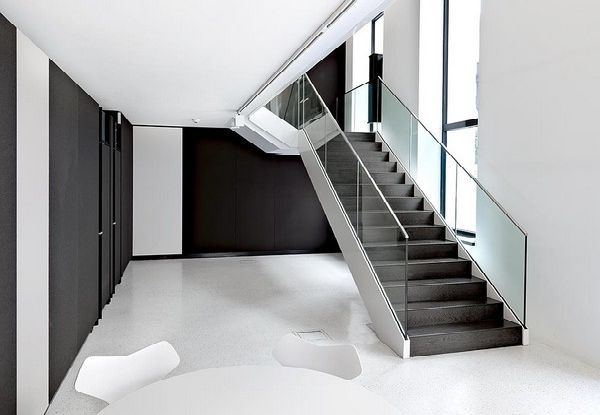 Modern Staircase Design staircase design and room layout in solid bene elegant and modern