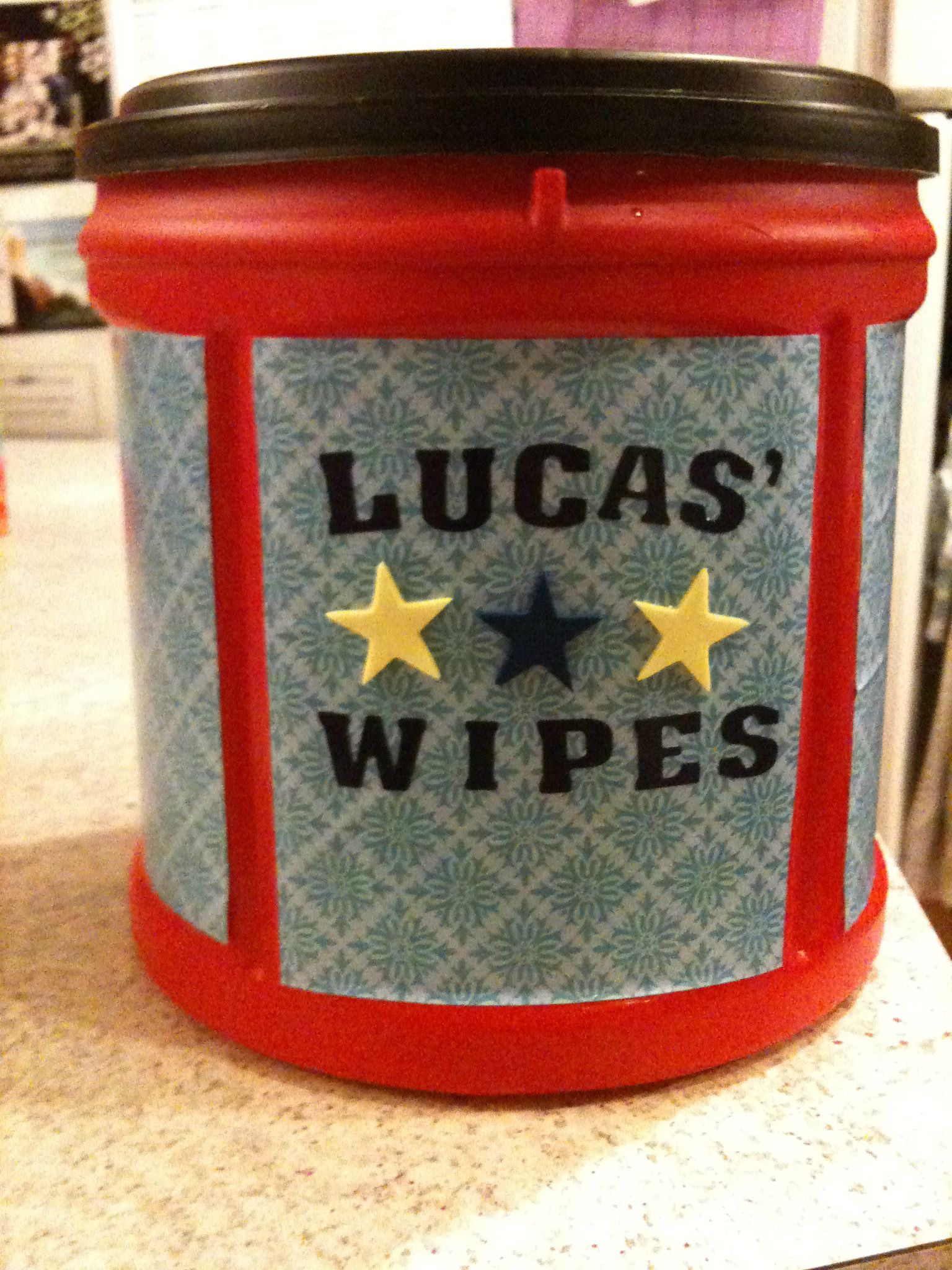 Homemade baby wipes Cut a roll of paper towels in half remove the
