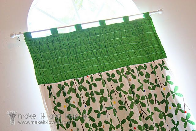 Gathered top curtain tutorial
