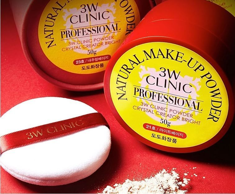 Details About 3w Clinic Natural Make Up Powder 30g Dodo Red Box