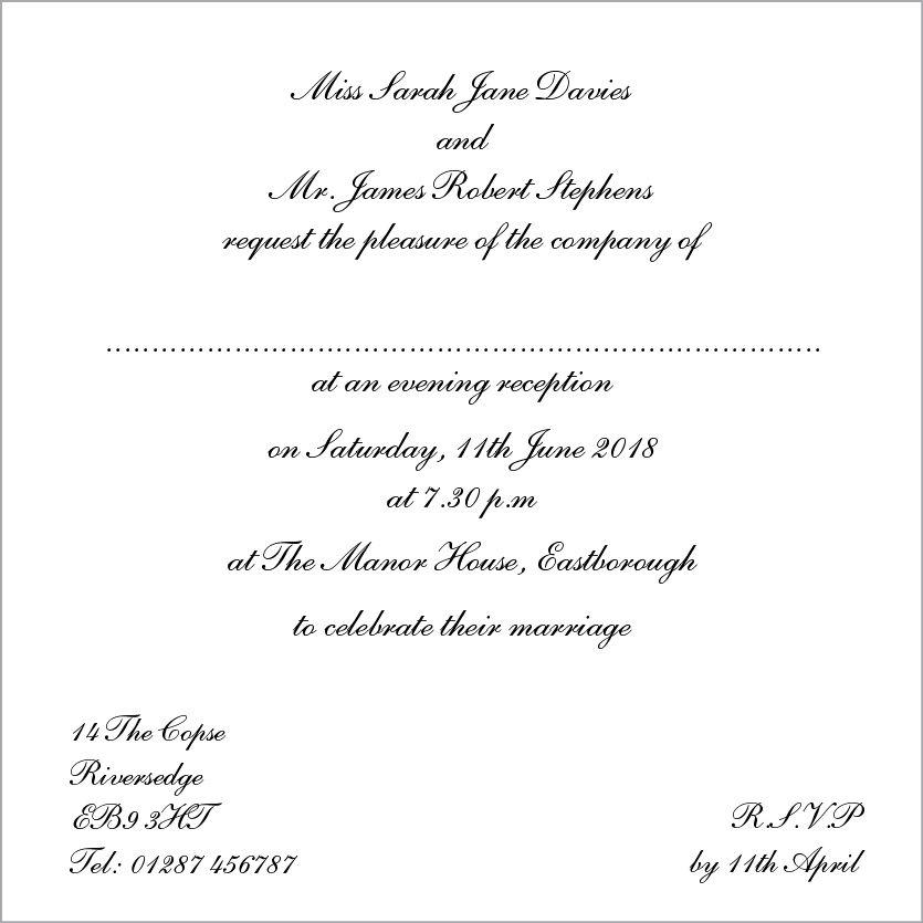 Template Wedding Invitation Wording