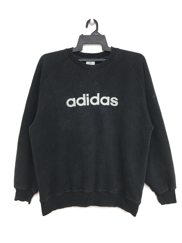 Sale Adidas Sweatshirt Spellout Crewneck Black Color Size Etsy Adidas Sweatshirt Sweatshirts Adidas [ 3000 x 2250 Pixel ]